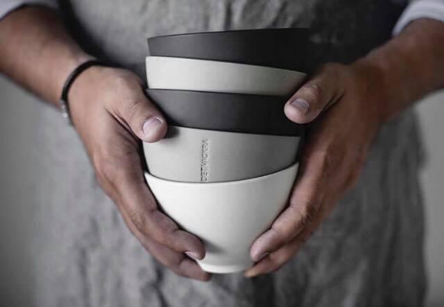skålar vit keramik