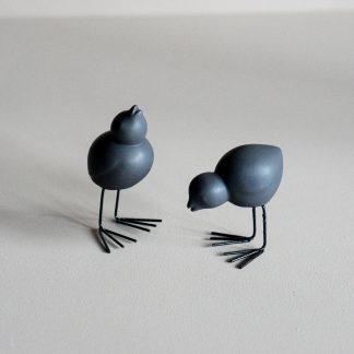 Fåglar 2 pack - svart