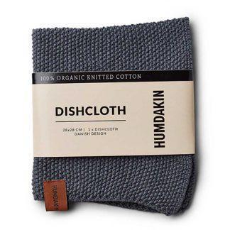 Knitted dishcloth Dark ash