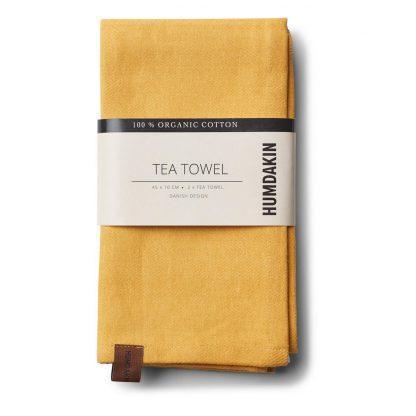 Tea towel Dark yellow fall