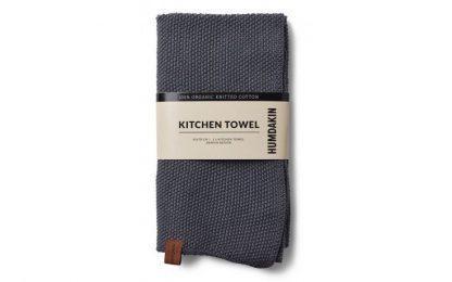 Knitted kitchen towel Dark ash