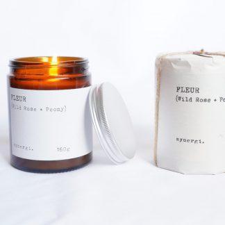 Synergi doftljus Fleur - Wild rose/Peony