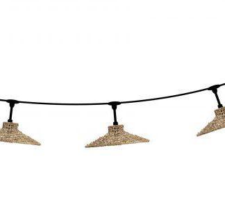 Ljusslinga flex out med 5 Sari skärmar