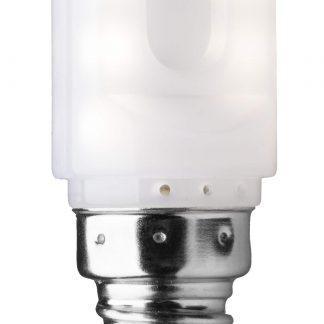 LED T22 Päron E14 2W Vit