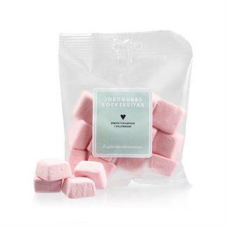 Sockerbitar jordgubb